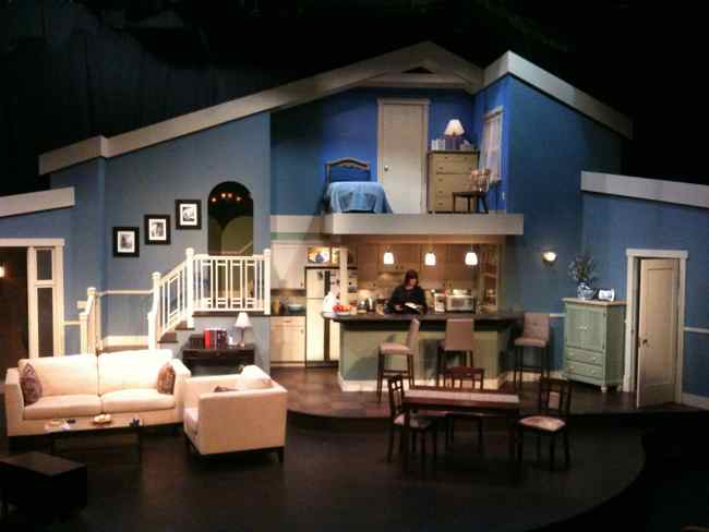 Jill carter design theater design portfolio for Living room set design
